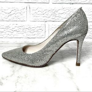 Brown's Couture Silver Pumps